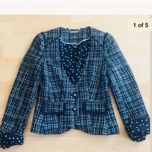 White House black market tweed blazer size 0